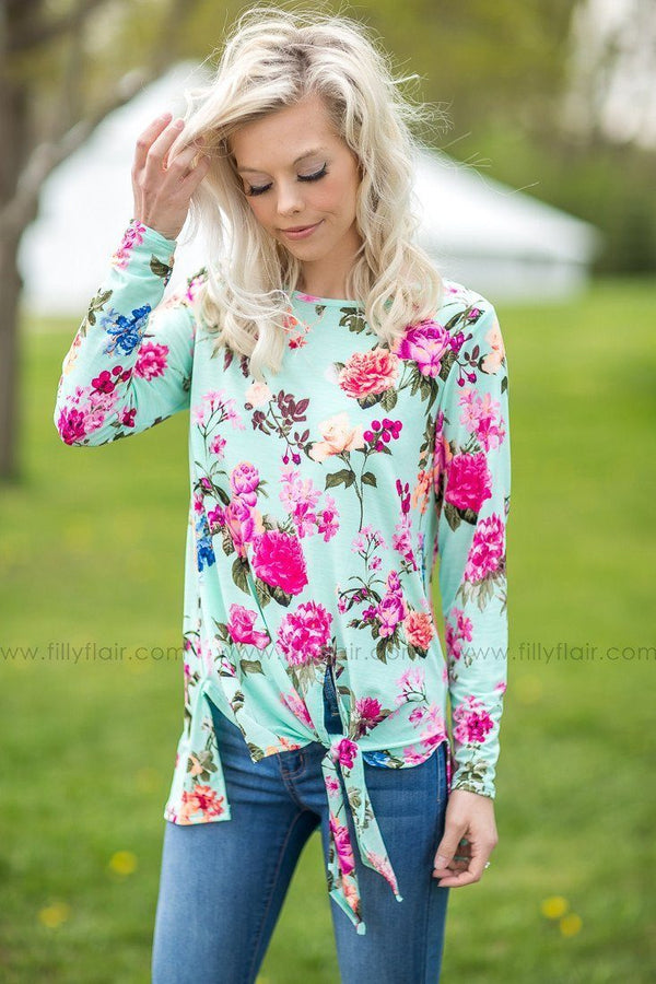 Tied up in Love Floral Print Top