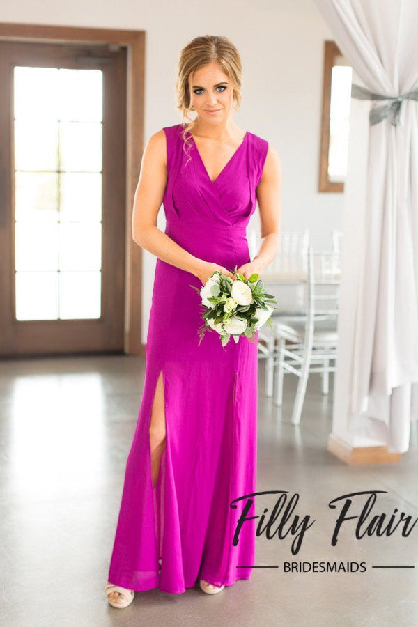 Yvette Bridesmaid Dress in Orchid - Filly Flair