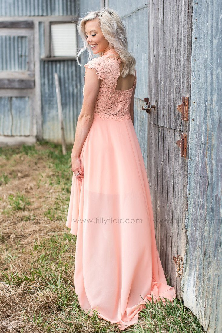 Keyhole bridesmaid dress