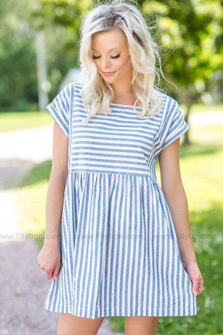 All The Right Places Striped Dress in Black and White
