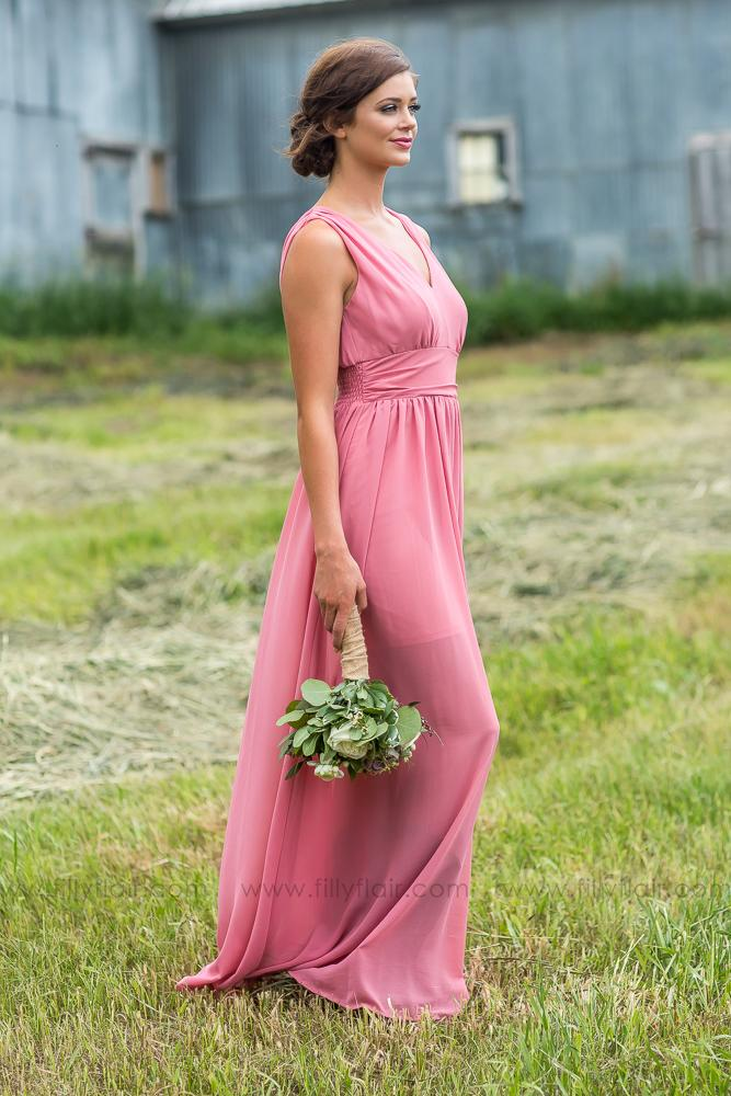 Isabella Bridesmaid Dress In Rose - Filly Flair