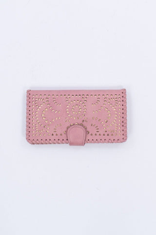 Sun Dial Cut Out Wallet in Blush