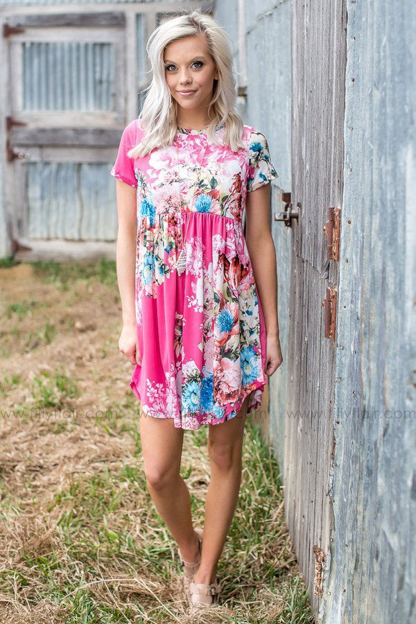 Floral Printed baby doll dress