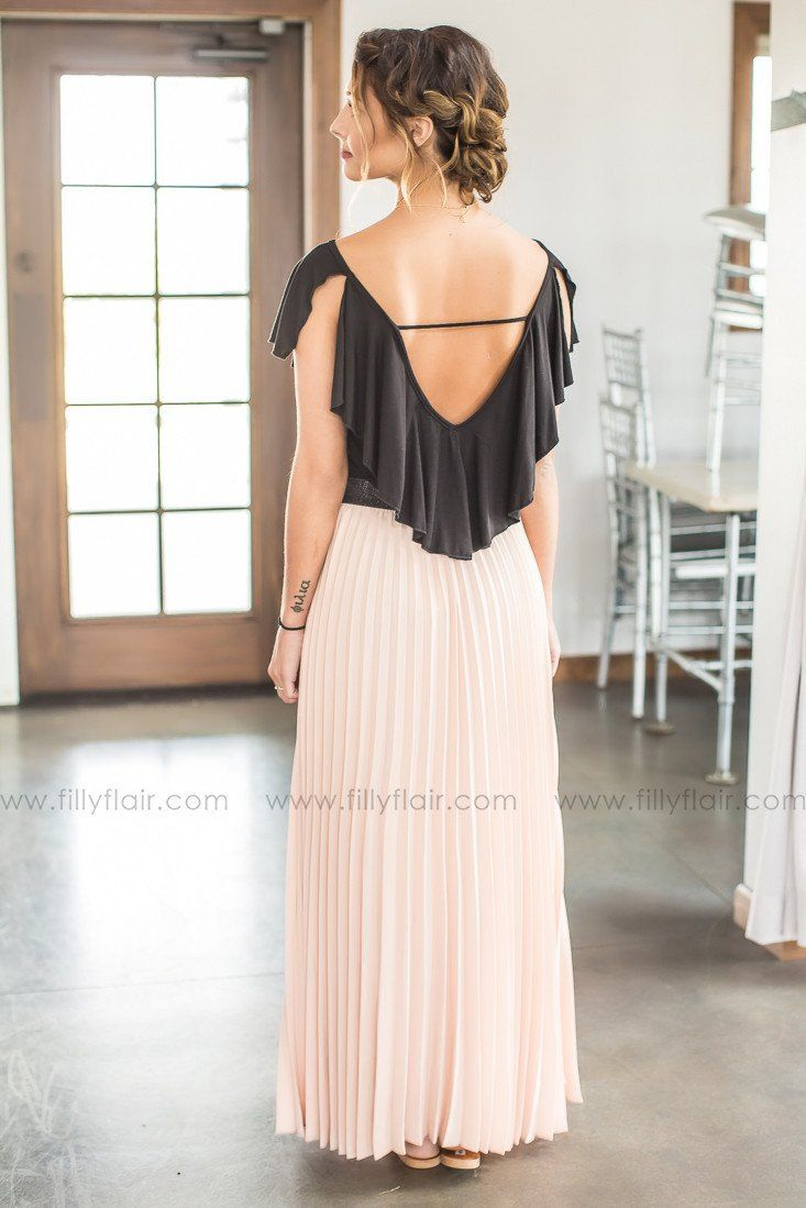 trendy boutique maxi skirt