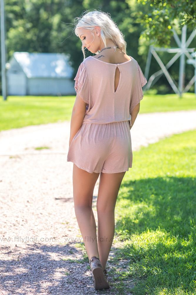 Just a Girl Lace Detail Romper - Filly Flair