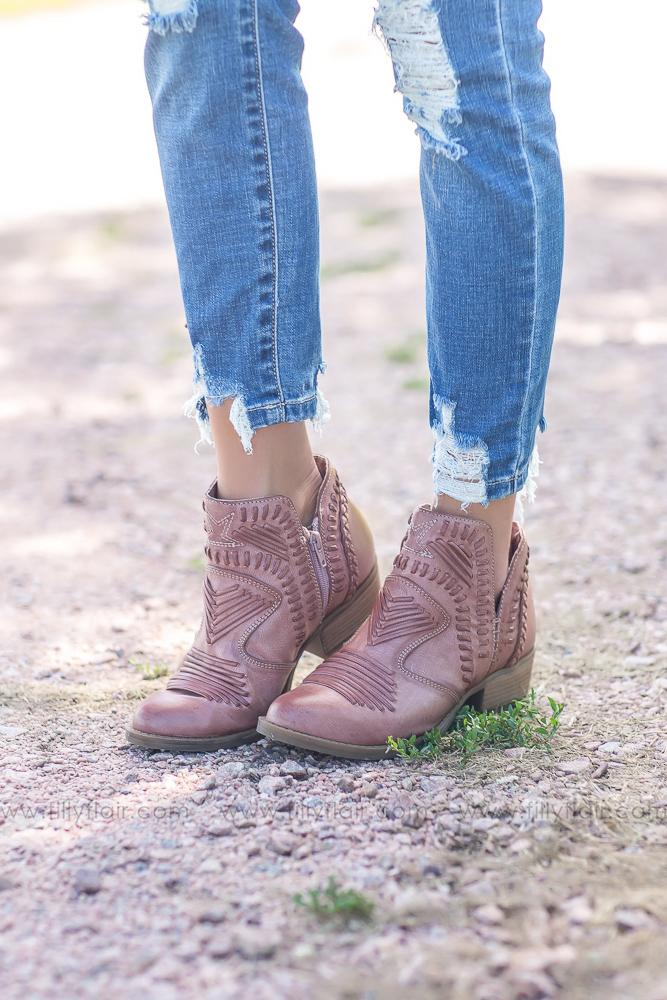 Not Rated Nosara Booties in Rose - Filly Flair