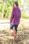 *091619 It's Your Love Oversized Turtle Neck Long Sleeve Sweater in Plum - Filly Flair