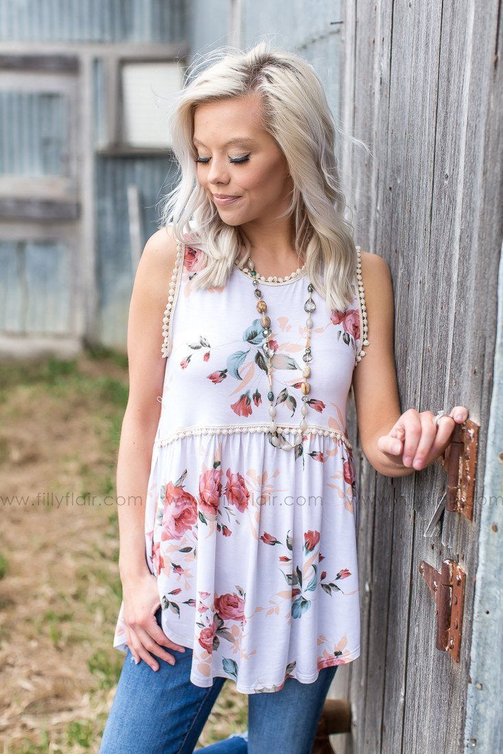 Love is More Floral Tank in Ivory