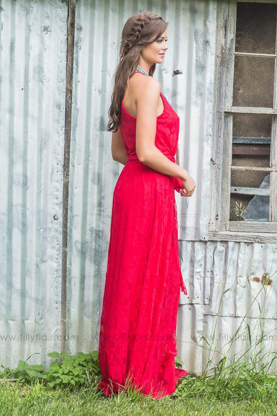 Juliette Bridesmaid Dress In Red - Filly Flair