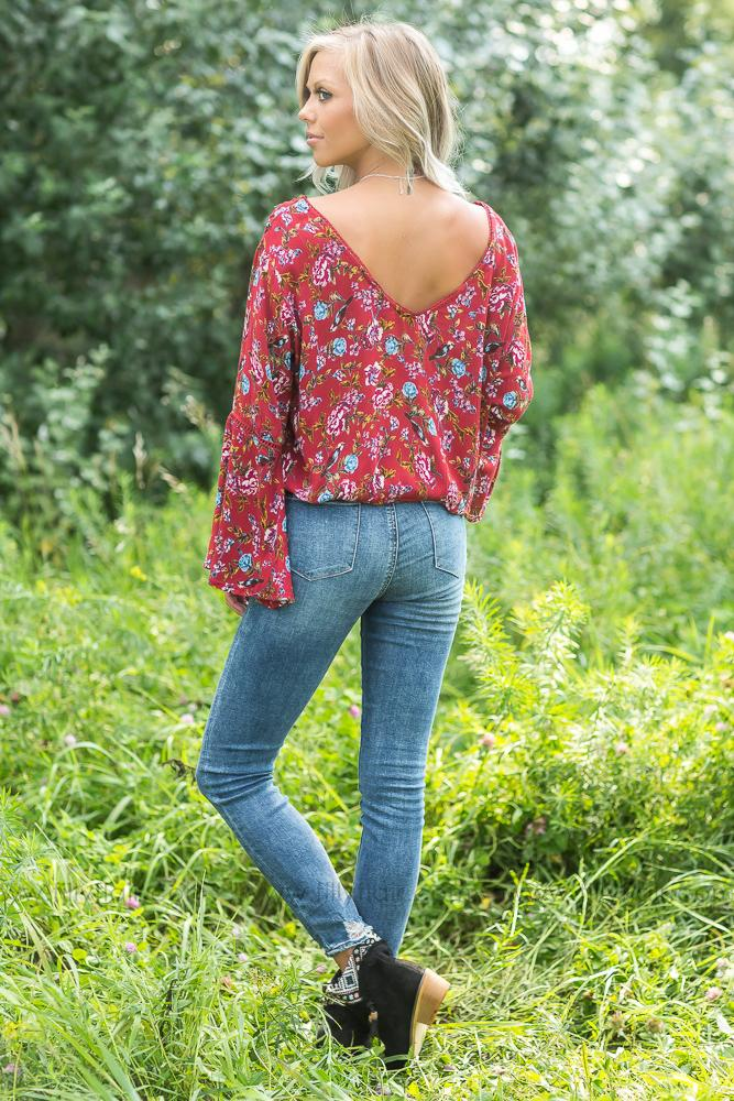 Floral Beauty Long Sleeve Top - Filly Flair