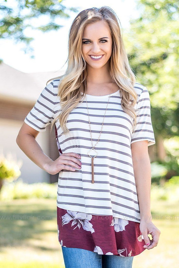 striped printed top