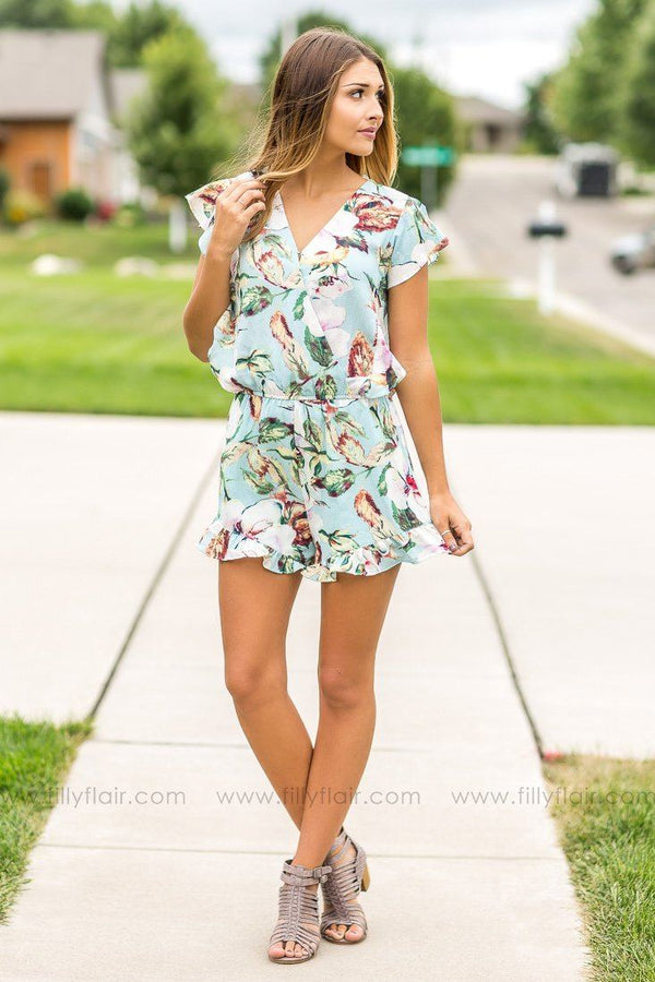 Sky's the Limit Floral Romper