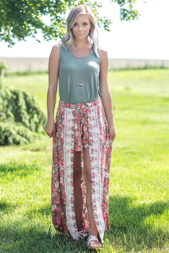 Life Changes Floral Romper Maxi Skirt - Filly Flair