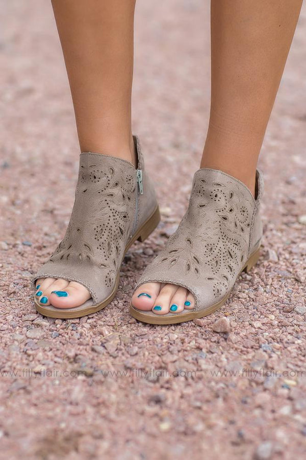 In My Dreams Suede Leather Booties - Filly Flair
