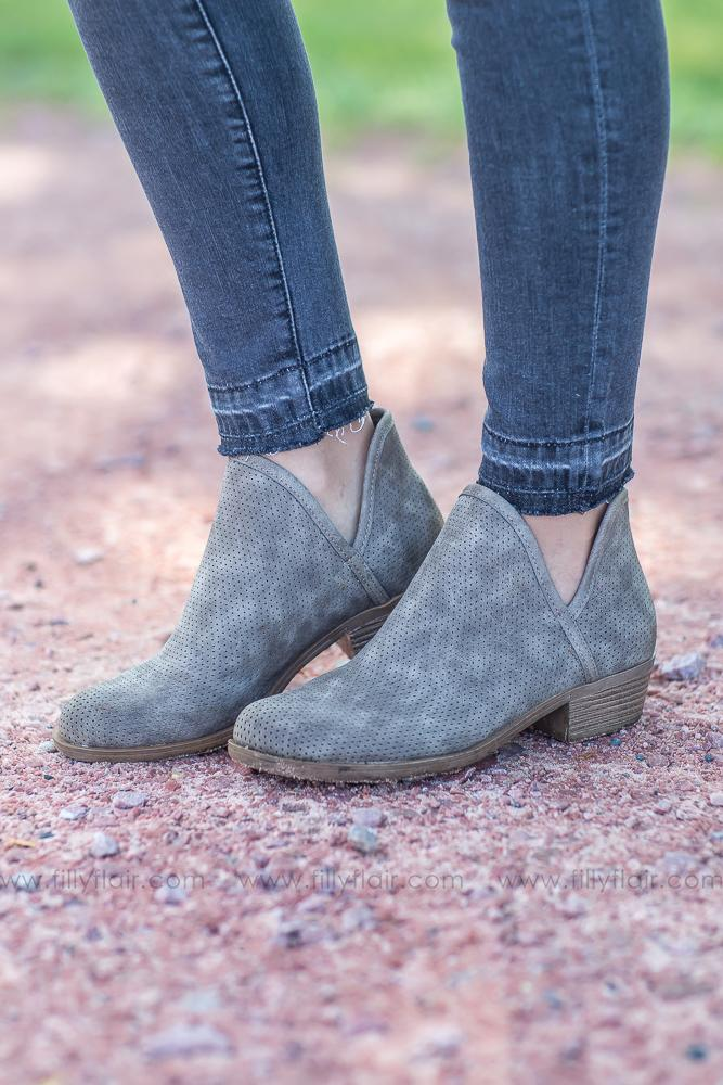 To The Curb Booties in Taupe - Filly Flair