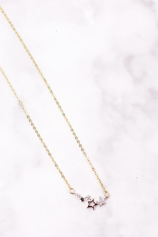 Silver Star Gold Necklace