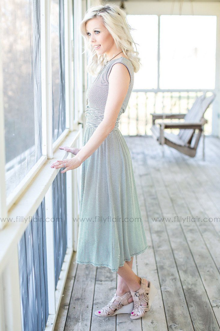 Grey mid length dress