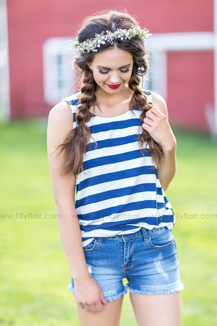 Red white and blue tank top