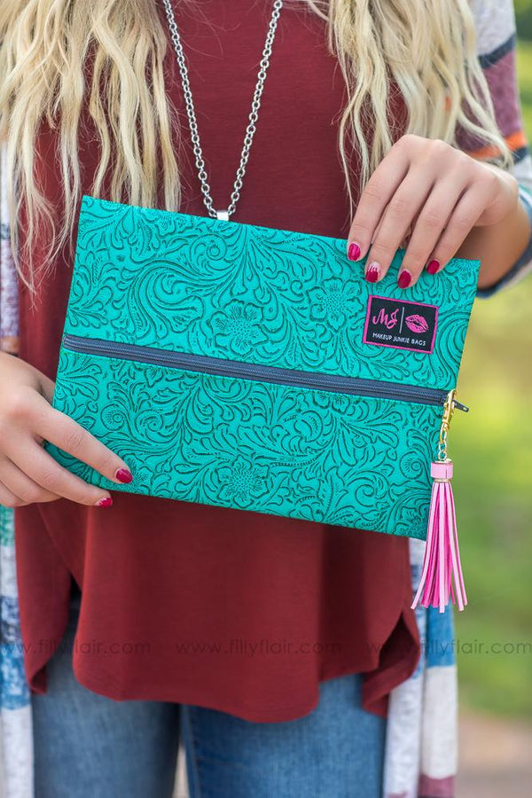 Makeup Junkie Bag in Turquoise Medium - Filly Flair