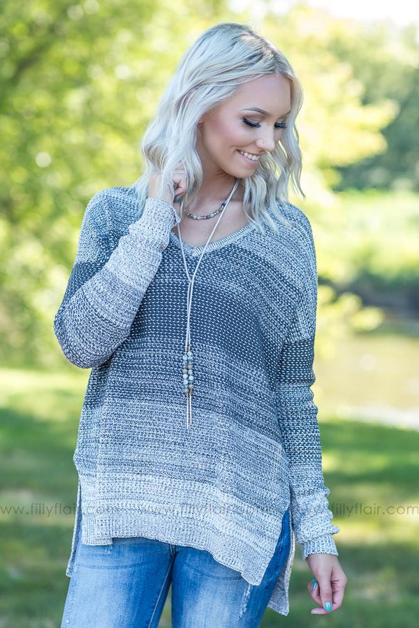 All My Days Knit Sweater in Charcoal - Filly Flair