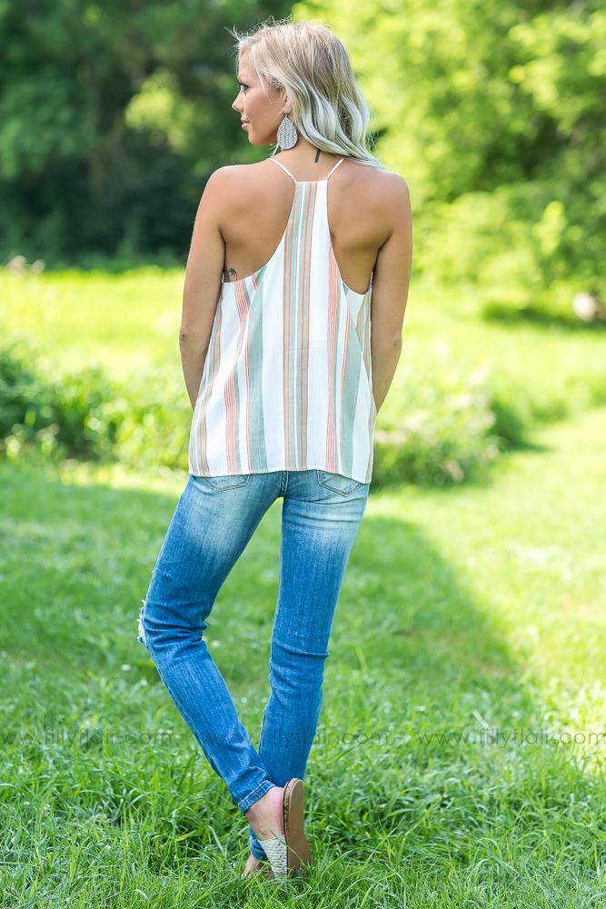 Striped to Perfection Tank - Filly Flair
