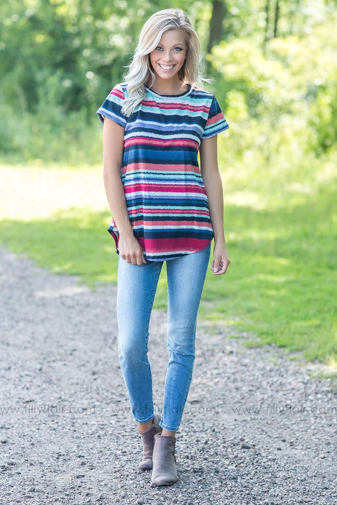 Honest Love Stripe Tee - Filly Flair
