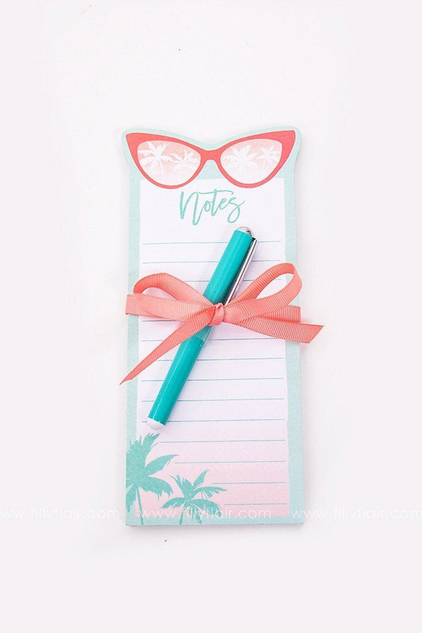 Sunglasses notepad