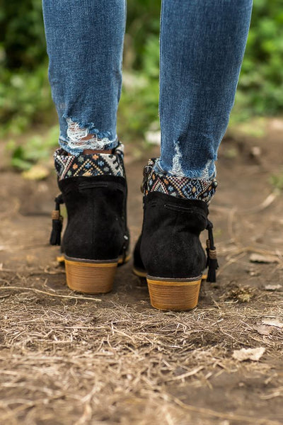 Get Kicking Black Venture Bootie - Filly Flair