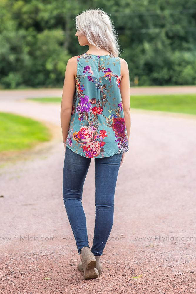 Anything But Mine Floral Tank Top - Filly Flair