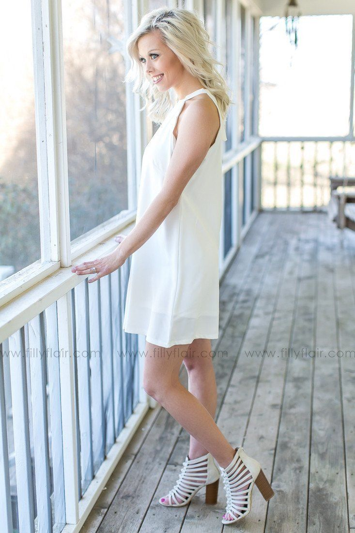 Something Sweet Scalloped White Dress
