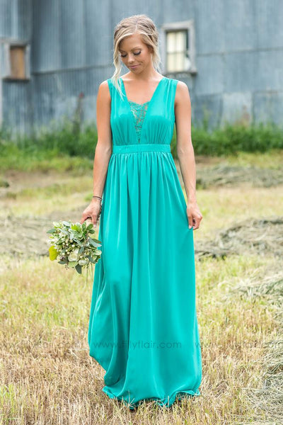 39ea66491c Manda Bridesmaid Dress in Jade - Filly Flair