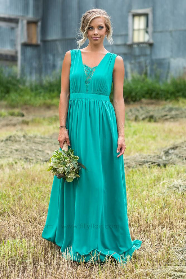 Manda Bridesmaid Dress in Jade - Filly Flair