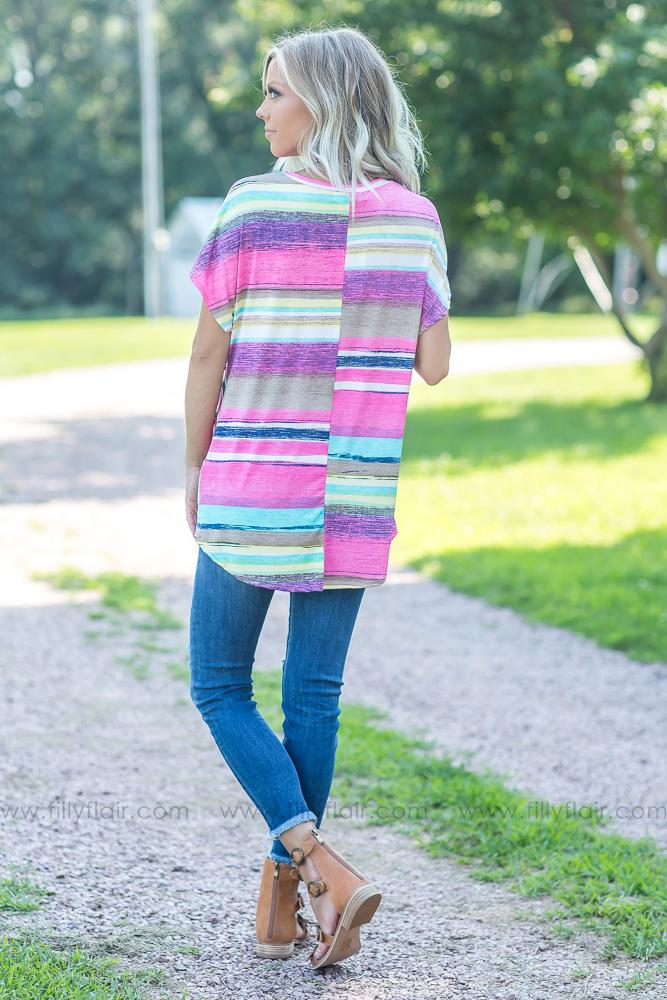 It's All For You Serape Stripe Hi Low Top - Filly Flair