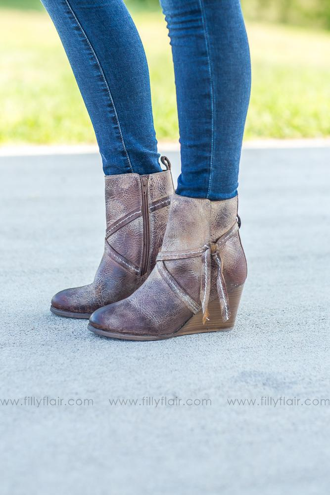 True Leather Bootie In Beach Lounge Tan - Filly Flair
