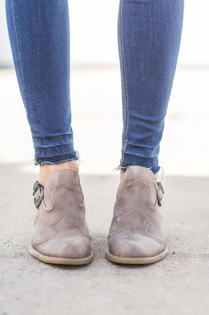 side buckle booties
