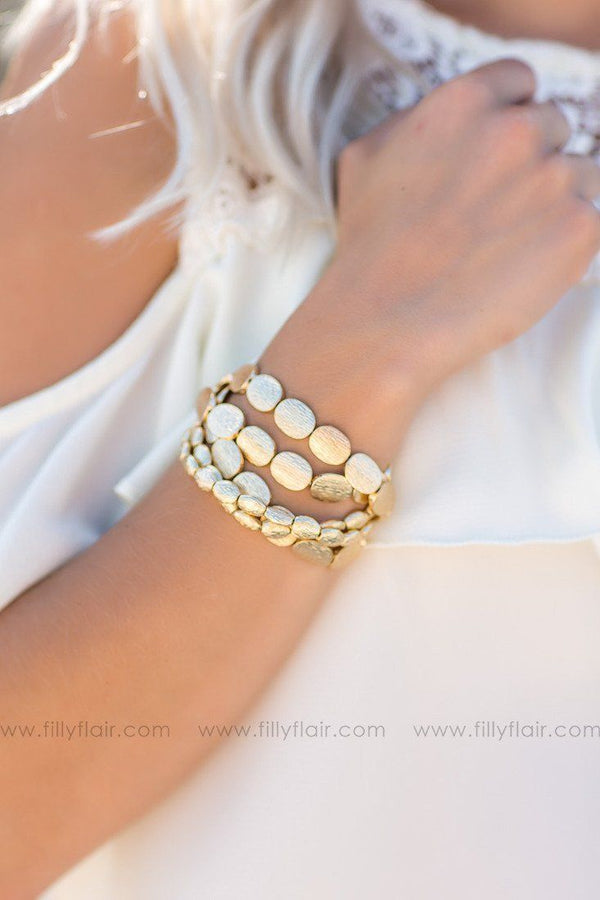 Gold Coin Layered Bracelet