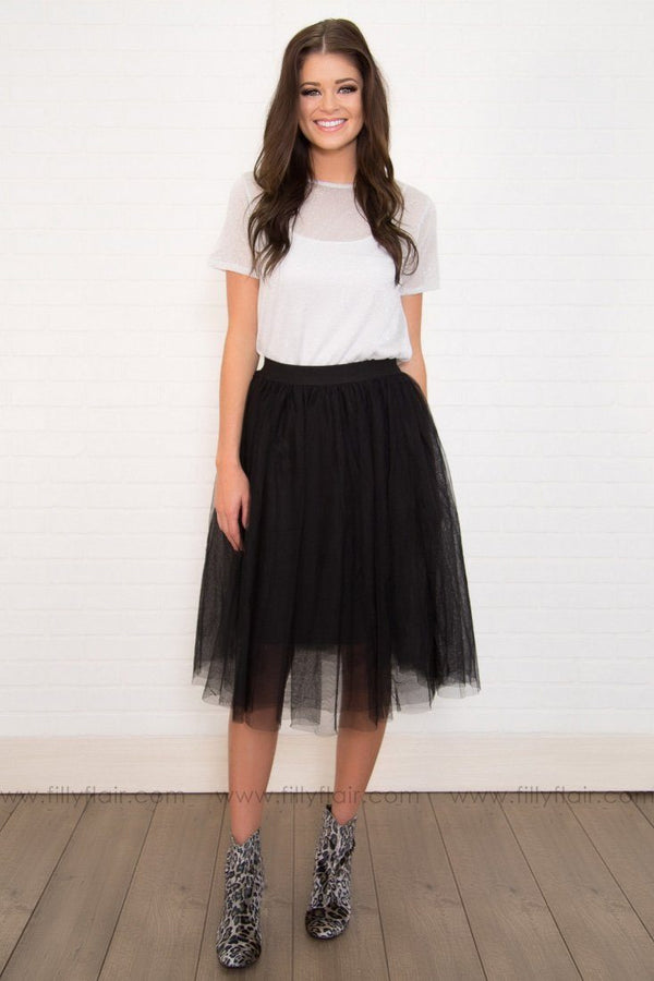 Dance The Night Away Tulle Ballet Skirt In Black
