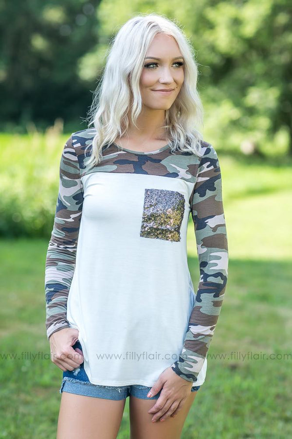 Camo Days in Ivory Lightweight Top