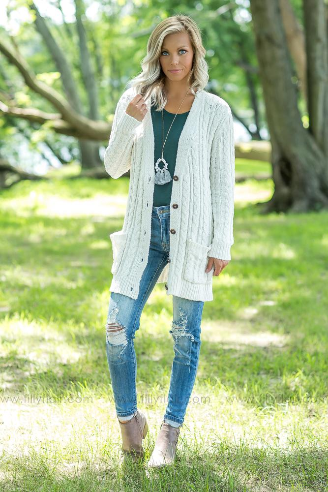 Keep Me Warm Button Long Sleeve Sweater - Filly Flair