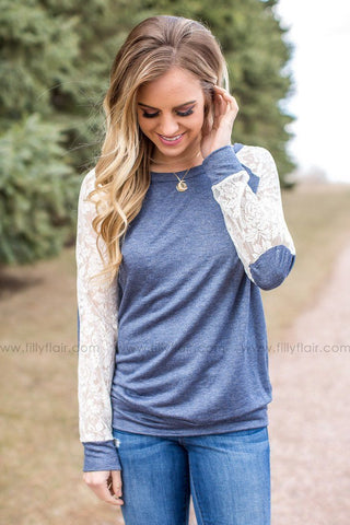 Wishful Thinking Top in Heather Grey
