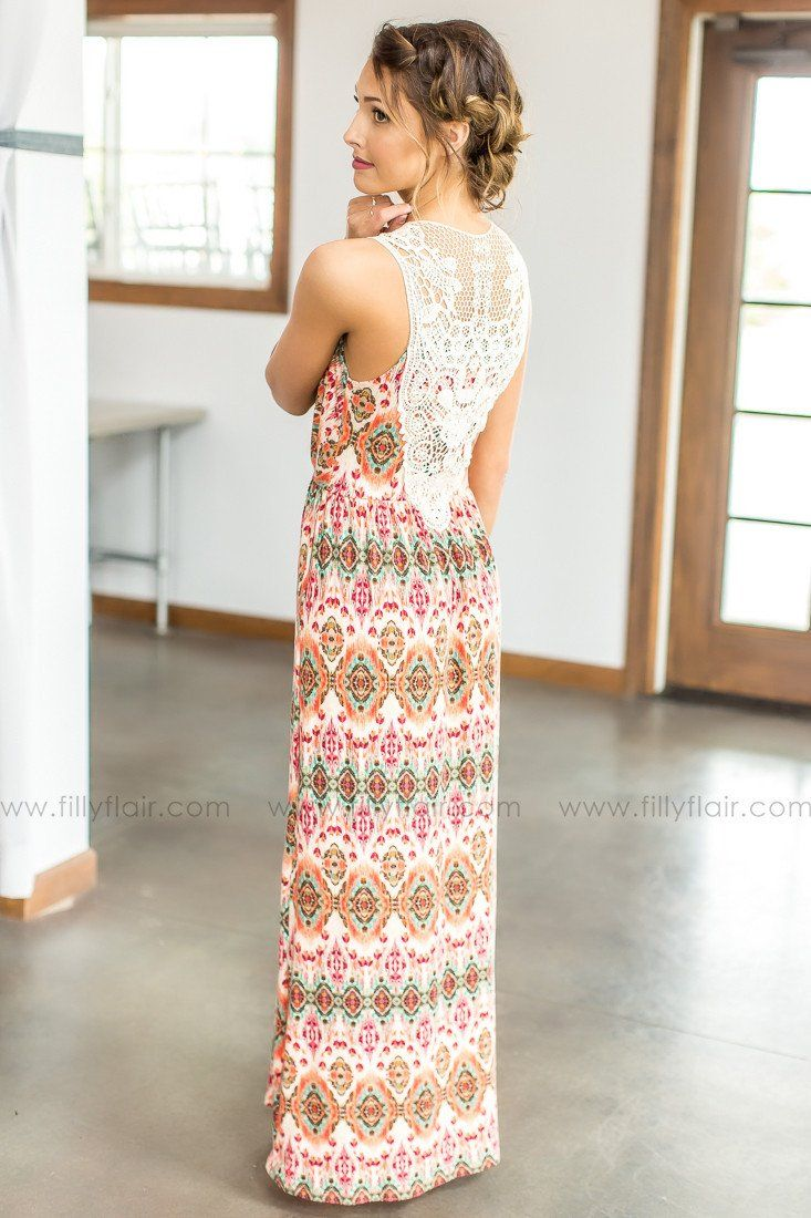 Aztec Printed Maxi Dress