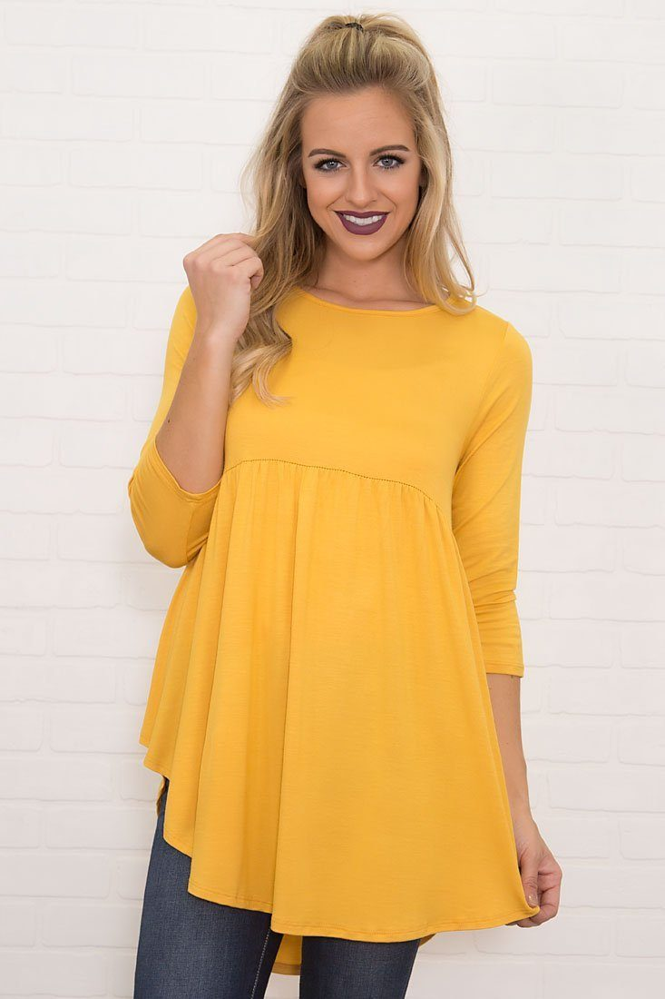 Bittersweet Baby Doll Top in Sunshine