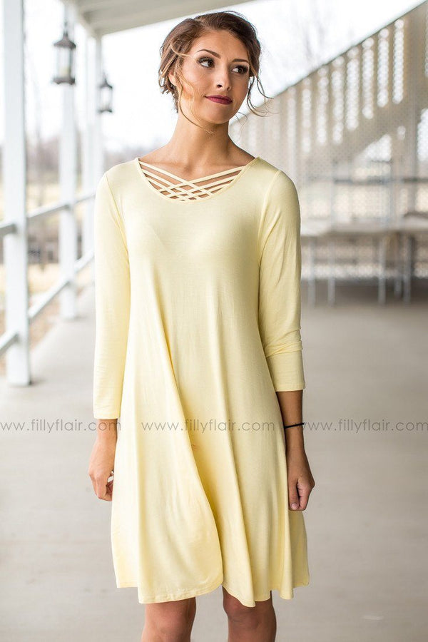yellow boutique dress