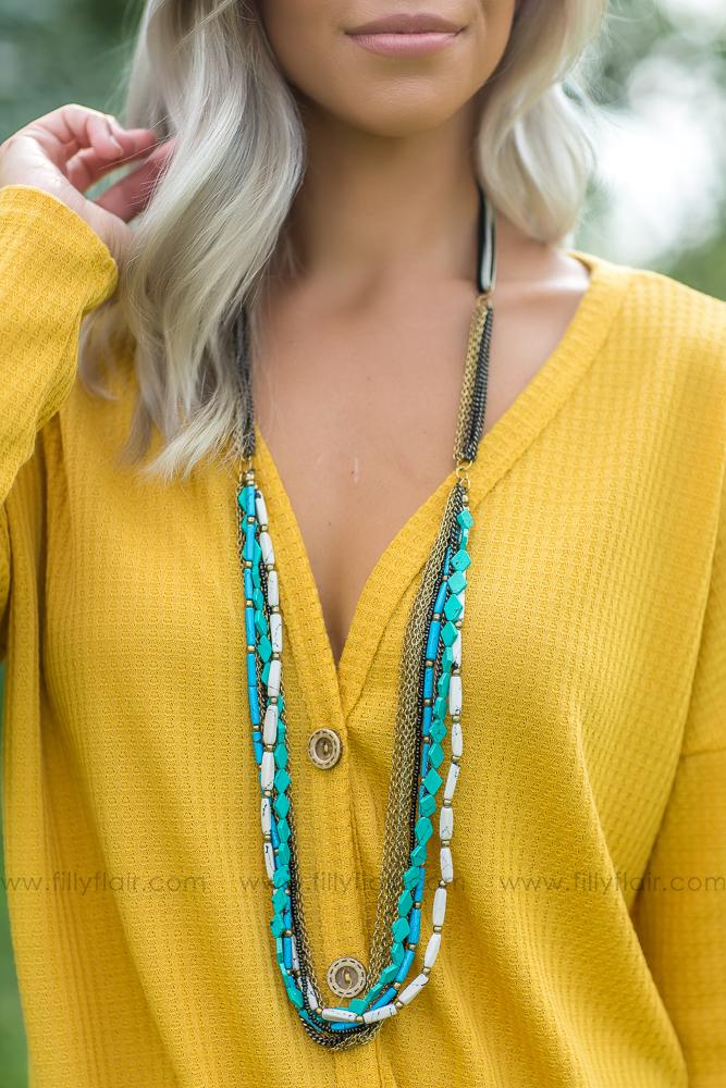 Layered in Love Turquoise Necklace - Filly Flair