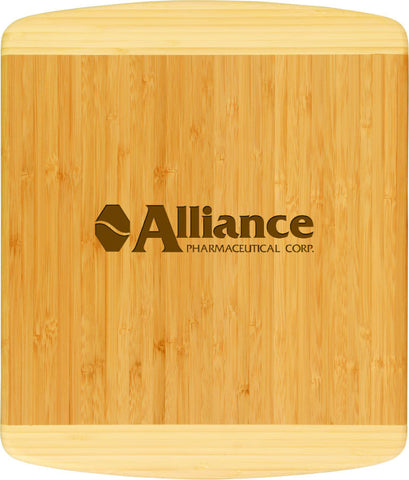"Bamboo Cutting Board, 2-Tone, 13 1/2""x11 1/2"""