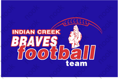 Indian Creek Braves Football with Logo