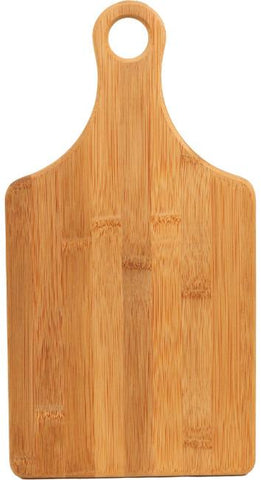 "Bamboo Paddle Shape Cutting Board, 13.5""x7"""
