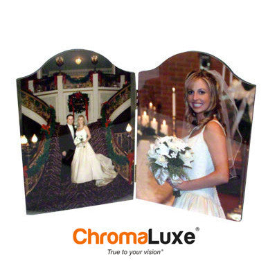 "Photo Panel, ChromaLuxe, Arch Top, Double Hinged,5"" x 7"""