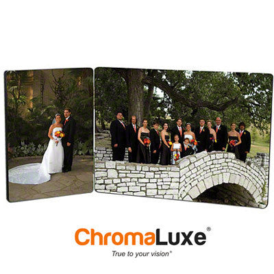 "Photo Panels, ChromaLuxe, Gloss, Two-Panel Hinged,3.5 x5"" and 5""x7"""