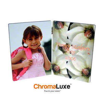 "Photo Panel, ChromaLuxe, Flat Top, Hinged, 5"" x 7"""